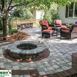 paver stone firepit i like the idea of incorporating the firepit