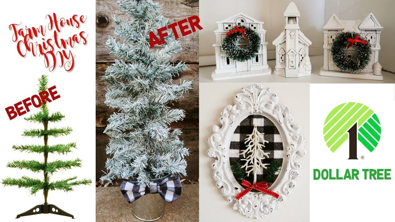 Farm House Inspired DOLLAR TREE CHRISTMAS DIY DIY decor