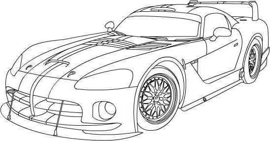 Viper Car Coloring Pages : Dodge viper coloring pages pinterest