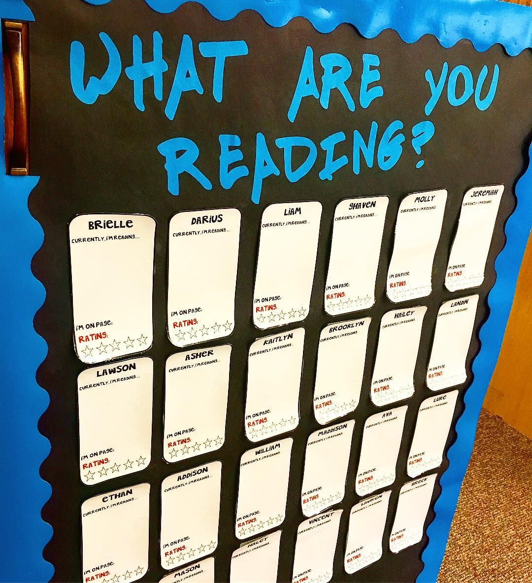 This Is My Classroom S What Are You Reading Board