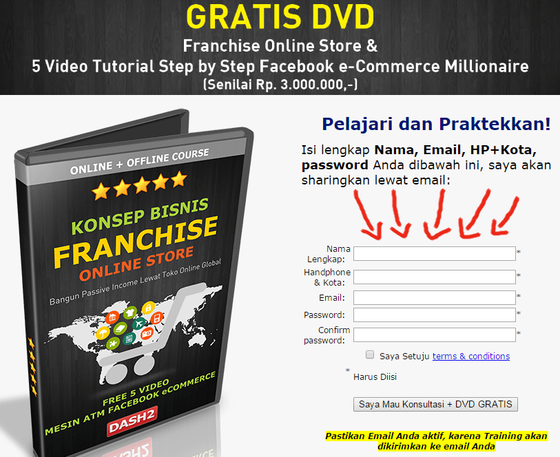 Cara Daftar dan Ambil DVD GRATIS Franchise Online Store ...