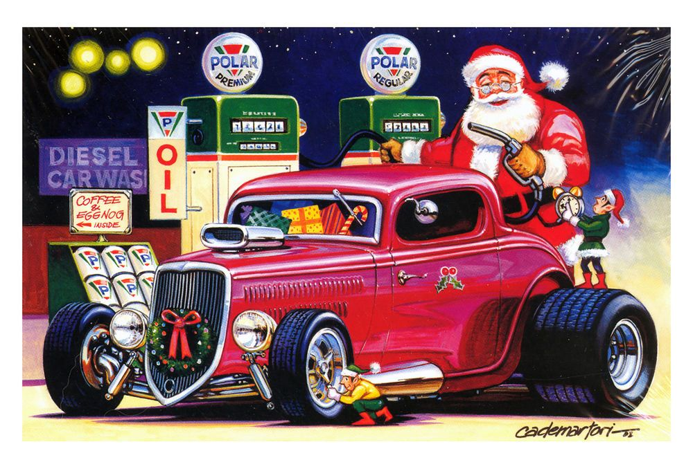 Hot Rods Christmas Cards - X-553 - One (1) Pack of 10 Cards ...