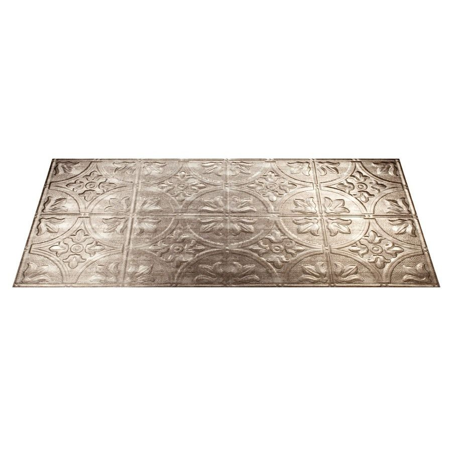 Fasade Common 48 In X 24 In Actual 48 375 In X 24 375 In Traditional 2 Crosshatch Silver Metal Tin Surface Mount Tile Ceiling Tiles Lowes Com In 2020 Ceiling Tiles Metal Tins Faux Tin