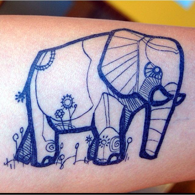 I like the style if this elephant tattoo.