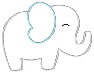 It is a photo of Bewitching Free Printable Baby Elephant Template