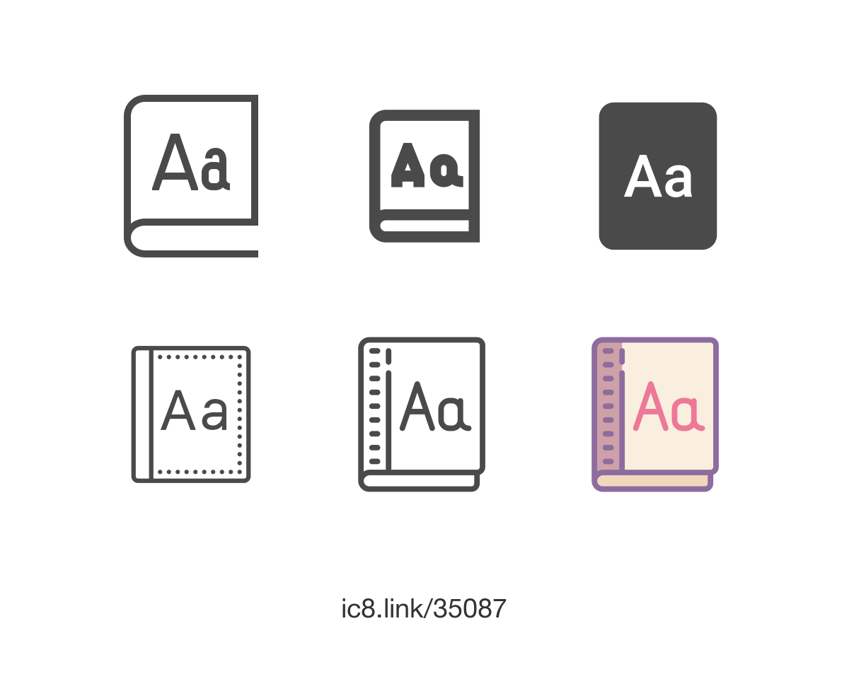 Download Free flat Dictionary icon of 虚线; available for download in ...
