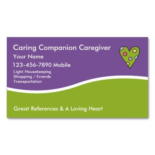Caregiver Business Cards Medical Business Caregiver Customizable Business Cards