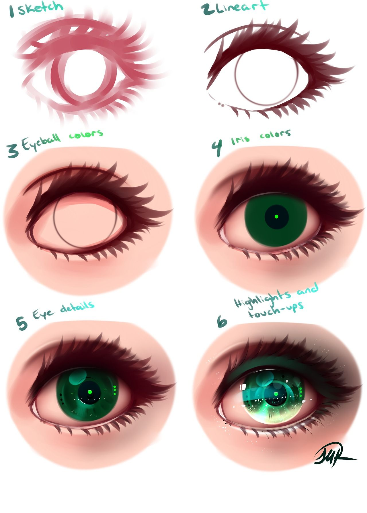 BreakingMelancholy Anime art tutorial, Digital art