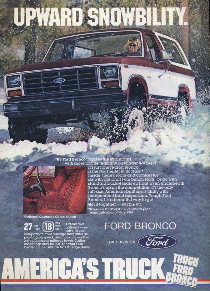 1983 Ford Bronco Ii Ad Ford Bronco Bronco Ford
