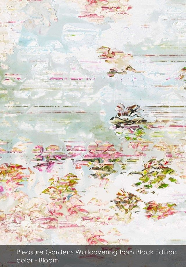 Pleasure Gardens Wallcovering wallpaper from Black Edition in Bloom