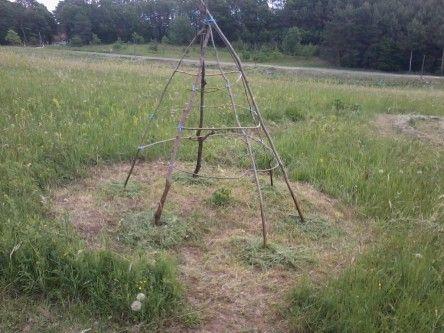 Ein Bohnentipi für den Garten #beetanlegen