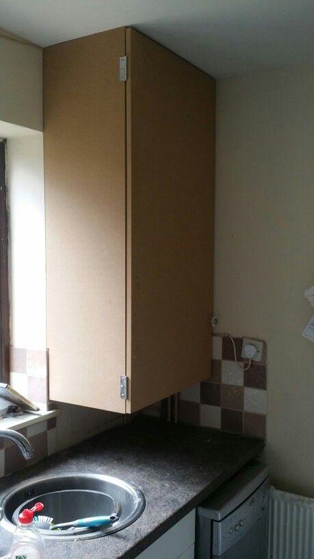 Custom built cupboard to hide a boiler. | me | Pinterest