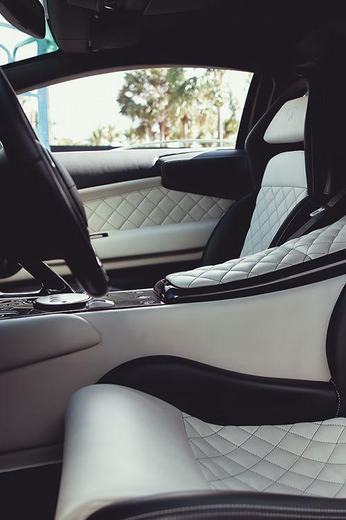 White Quilted Leather Super Luxury Cars Luxury Car Interior Car Interior