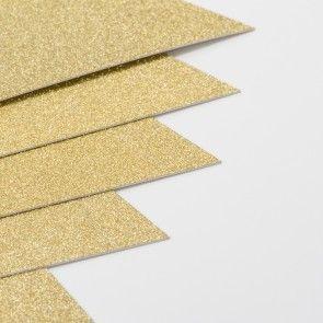 Gold Sparkle Card Stock