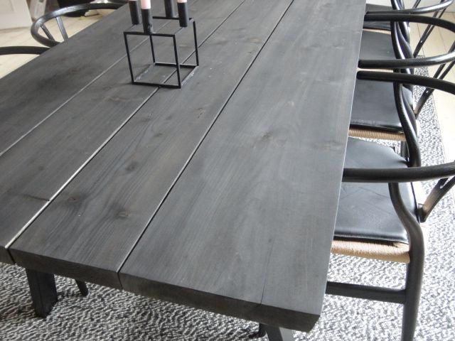 Rustikbord i massive fyrretræs planker - Her køber du rustik ...