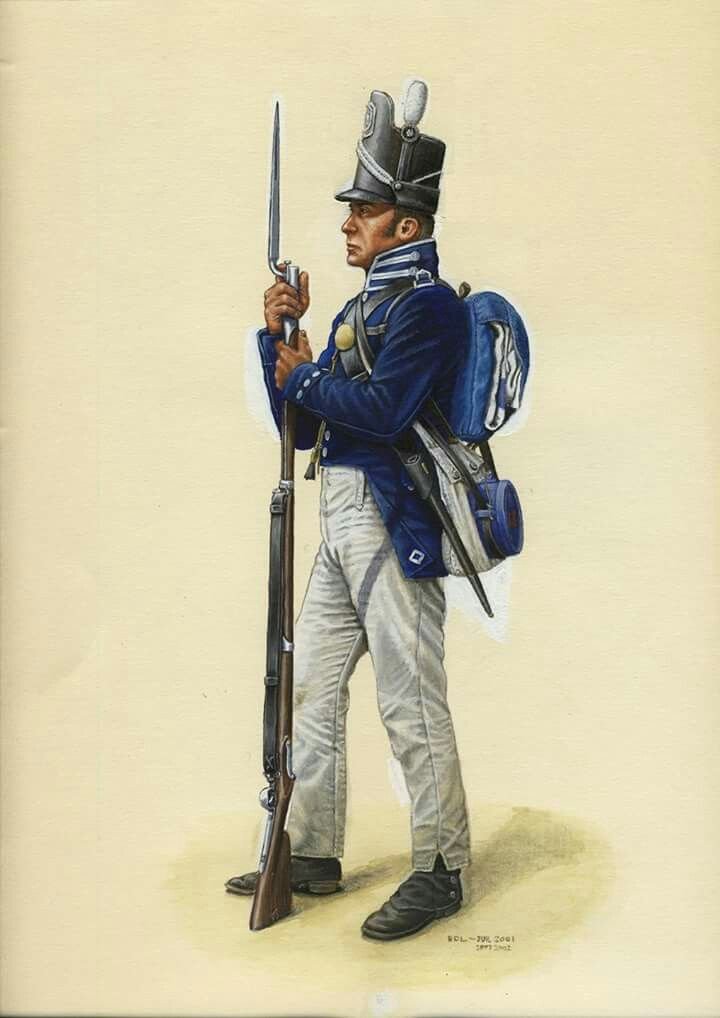 Private of a Regular U.S. Infantry regiment (the 7th and 44th being ...