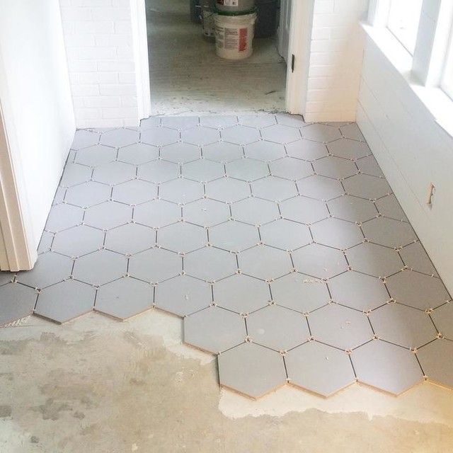 Silver Hex Porcelain Floor Tile 10 In The Tile Shop Flooring Entry Tile White Bathroom Tiles