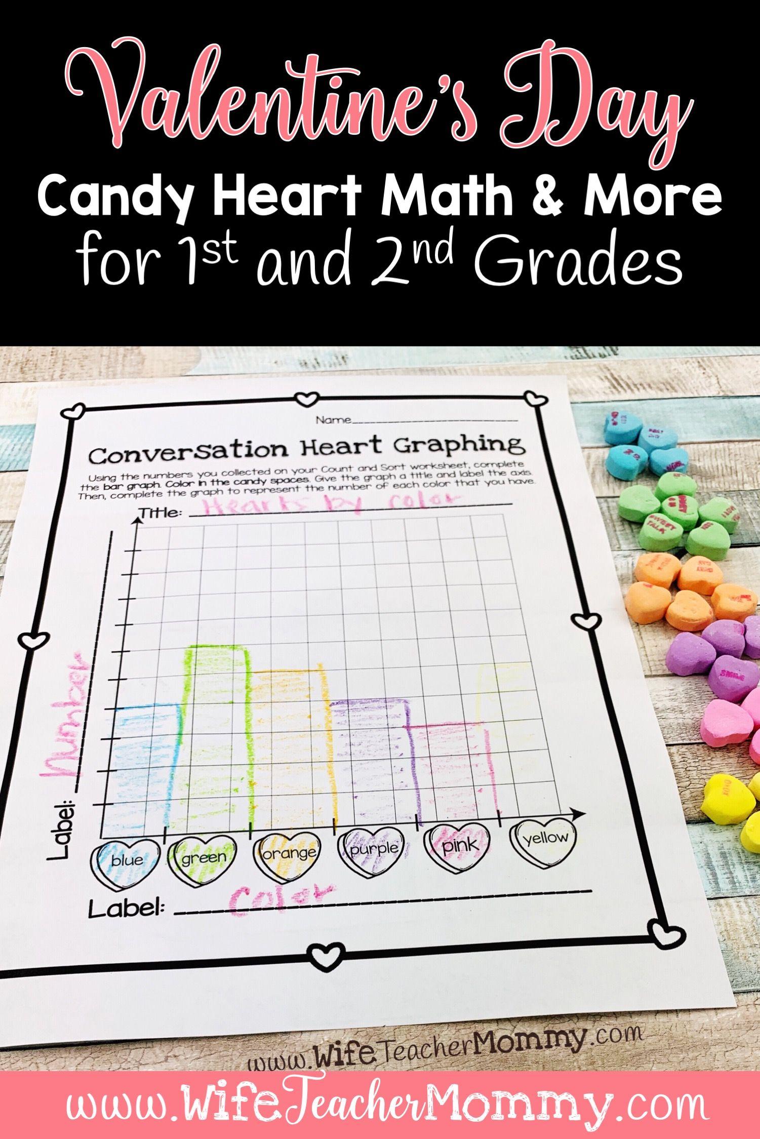 Conversation Heart Math Activities For Kindergarten And