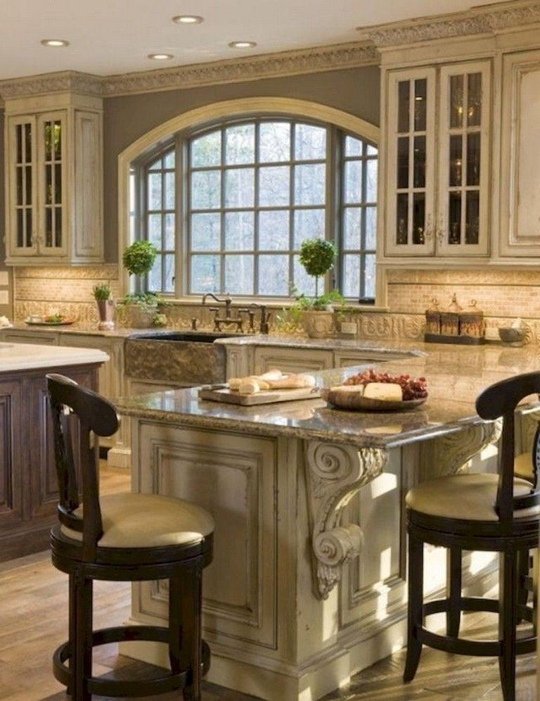 58 Beautiful French Country Style Kitchen Decor Ideas French Country Kitchen Cabinets Country Kitchen Designs French Country Decorating Kitchen