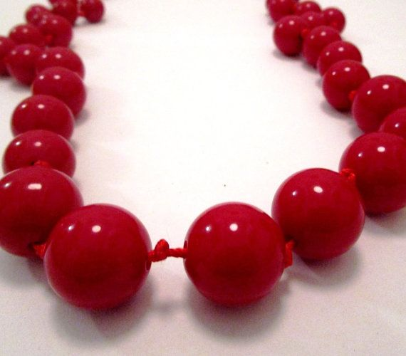 Vintage HIGH END BOLD Runway Red Lucite by MyJewelsBoutique