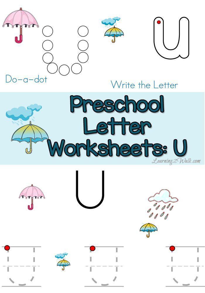 Free Letter U Preschool Worksheets- Learning 2 Walk | Pinterest ...
