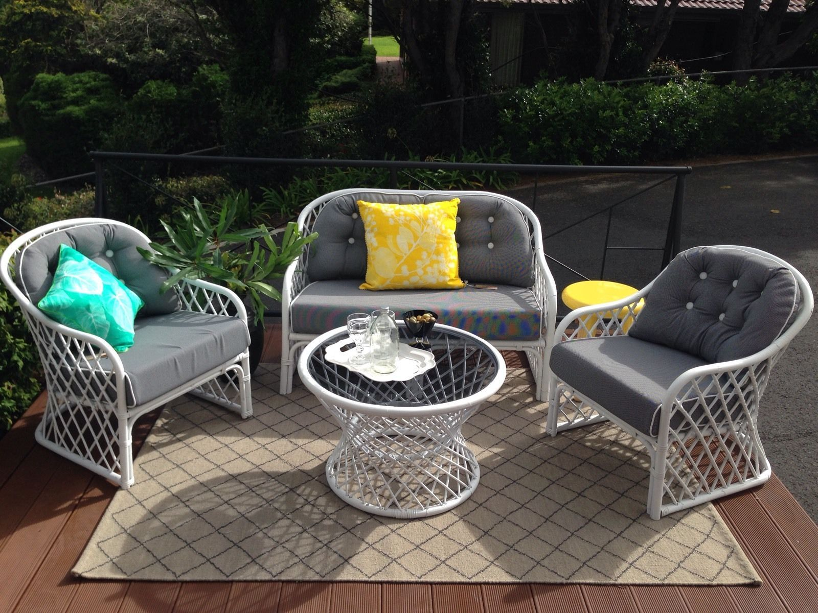 Cane Lounge Suite Outdoor Wicker Furniture Outdoor Furniture Cushions Outdoor Furniture - Outdoor Furniture Clearance Toowoomba