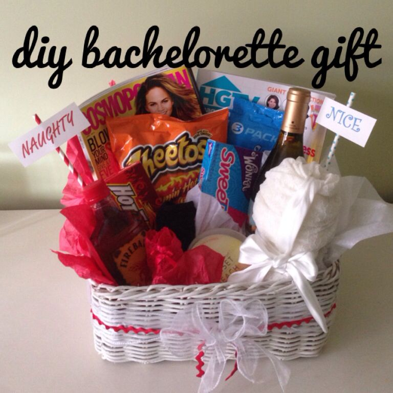 naughty and nice bachelorette party gift basket. | The Trendy ...