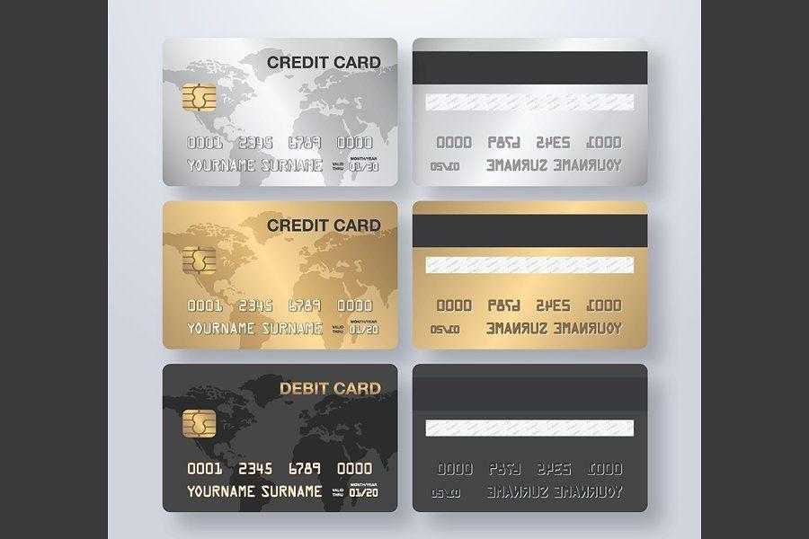 Credit Card Vector File Credit Card Design Credit Card