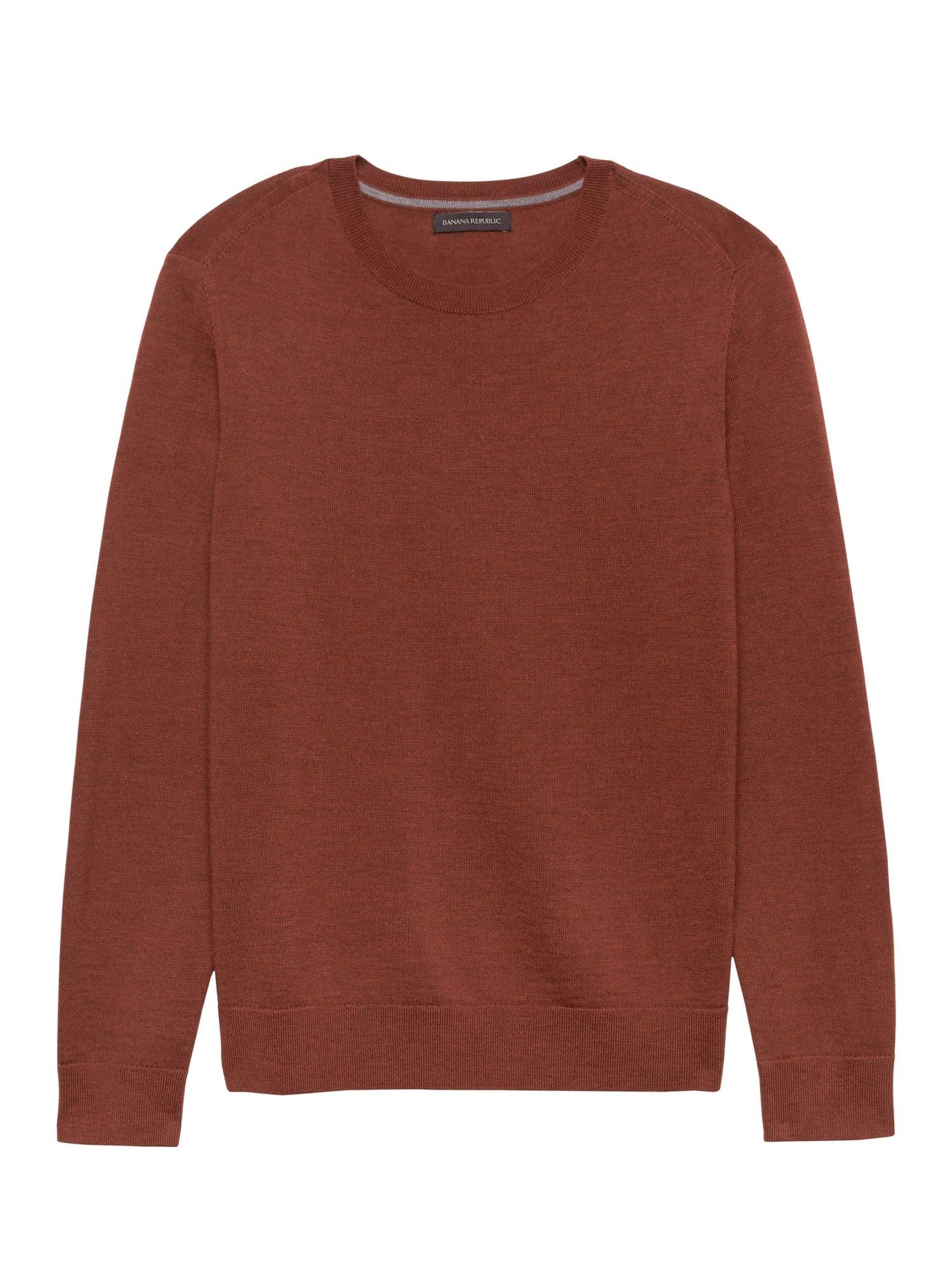 1e0fa6cf Extra-Fine Italian Merino Wool Crew-Neck Sweater   Banana Republic