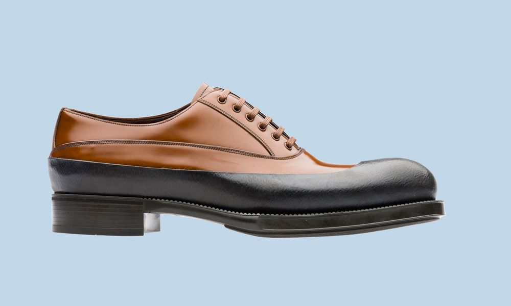8f85b7565a Prada Men s Lace-Up Shoes Fall Winter 2012 - Rubber   Flowers ...