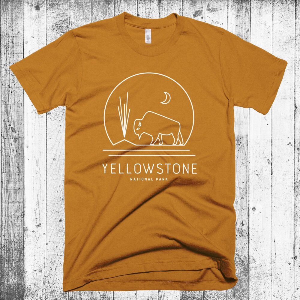 Yellowstone Tshirt, Yellowstone National Park, Bison
