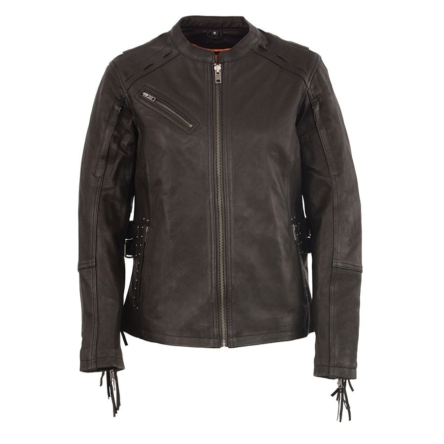 Milwaukee Leather Men/'s Motorcycle Distressed Brown Scooter Jacket  **MLM1550