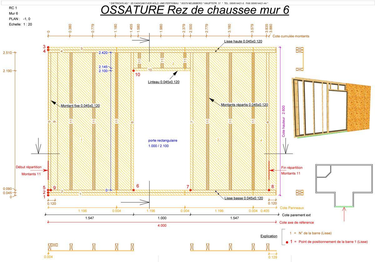 Favorit Plan-ossature-bois.jpg (1200×839) | Architecture | Pinterest  DN05