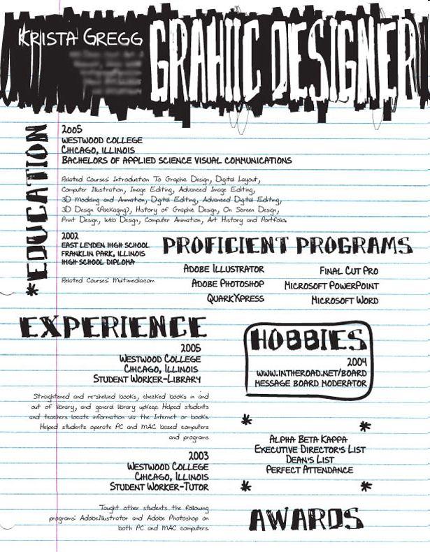 scratch pad resume design pinterest resume layout graphic