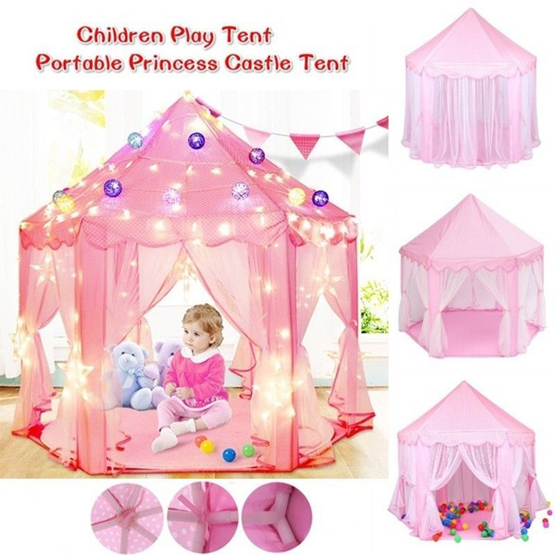 584987f3c1cf Indoor Play Tents For Girls, Girls Princess Castle Play Tent Large  Playhouse Indoor Outdoor for Kids | Products in 2019 | Girls play tent, Kids  tents, ...