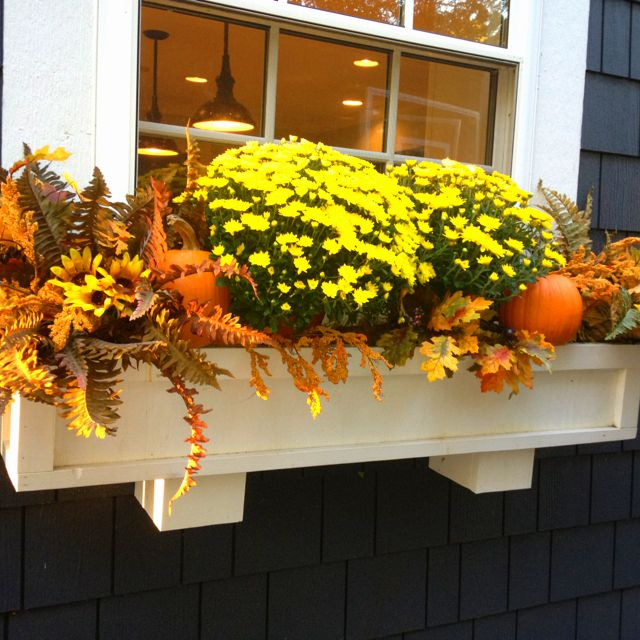 Pin By Kathy Maland On Window Box Pinterest Window Box And New Decorating Window Boxes For Fall