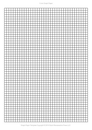 A4 Graph Paper Template Pdf, 5Mm Squares, 210×297 Mm | Templates