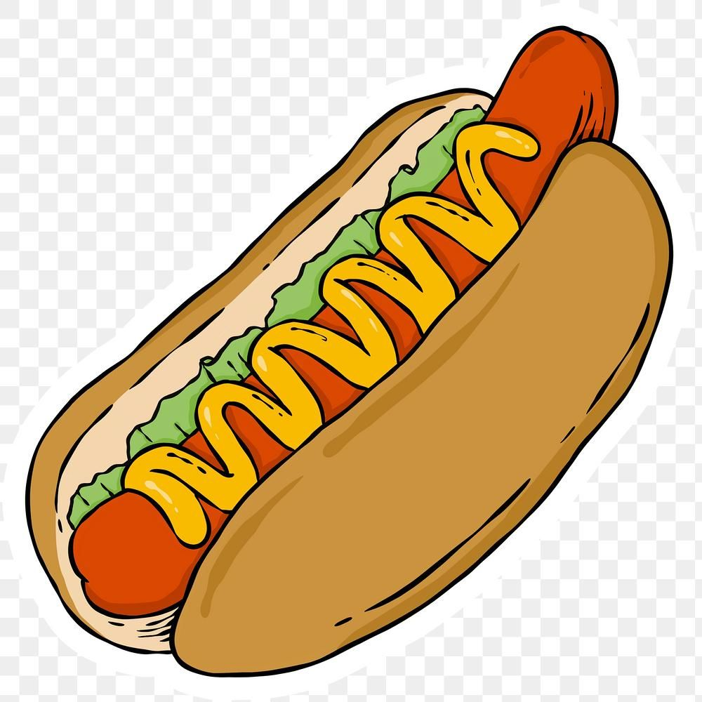 Delicious Hotdog Bun Sticker Png Free Image By Rawpixel Com Noon Hot Dogs American Hot Dogs Food Png