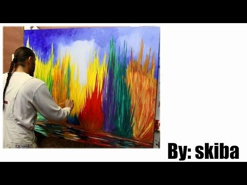 Abstract Painting Oil On Canvas Youtube Canvas Painting Landscape Abstract Oil Painting Abstract