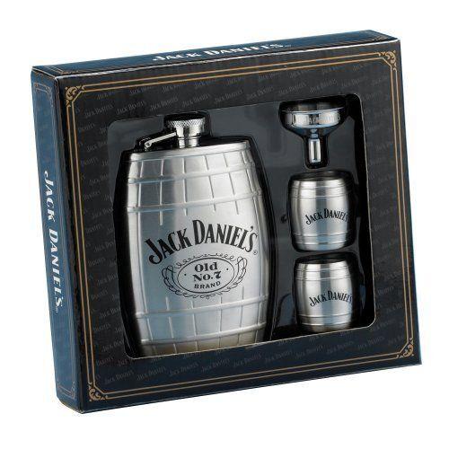 Jack Daniel?s Barrel Flask/Gift Set ($32.25)