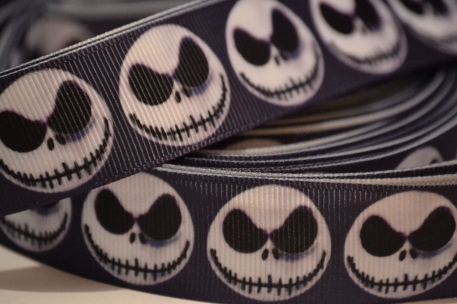 Nightmare Before Christmas ribbon , Jack Skellington ribbon, 10 yard ...