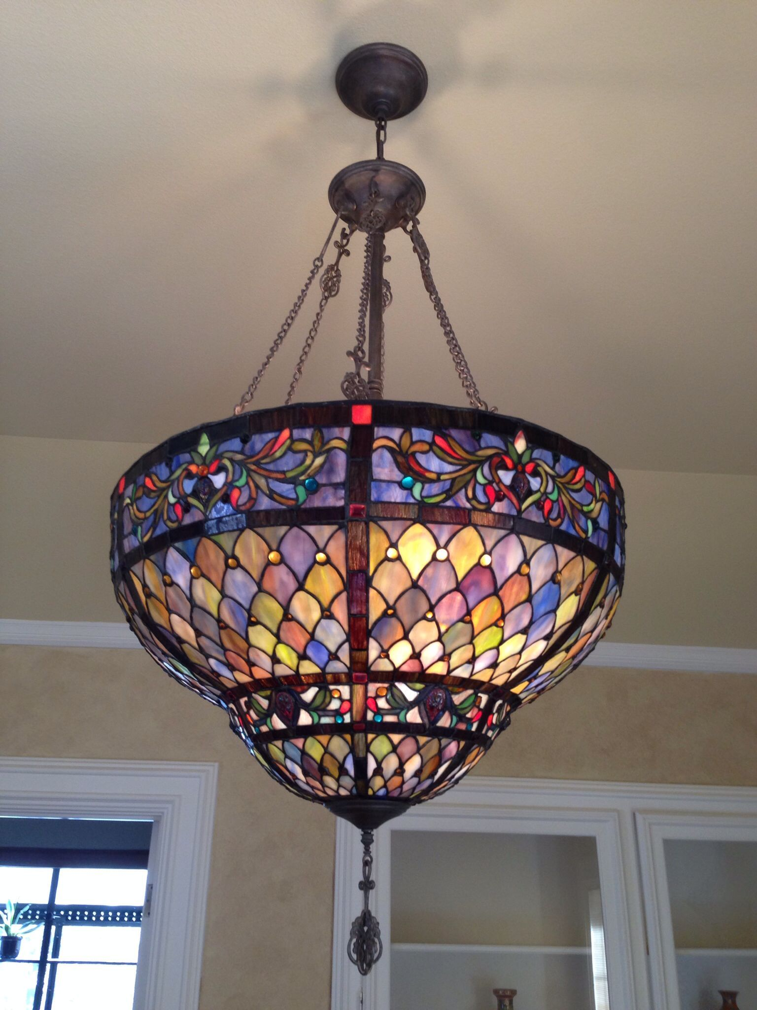 Stained Glass Chandelier Stained Glass Chandelier Stained Glass