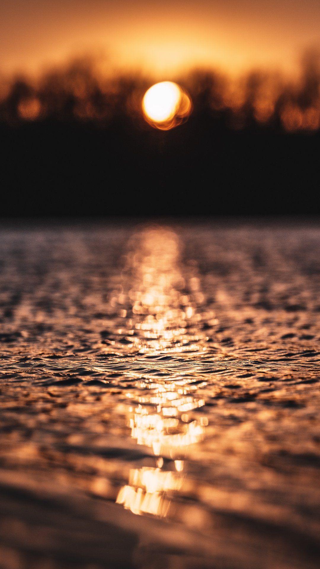 خلفيات آيفون بحر Sunset Background Celestial