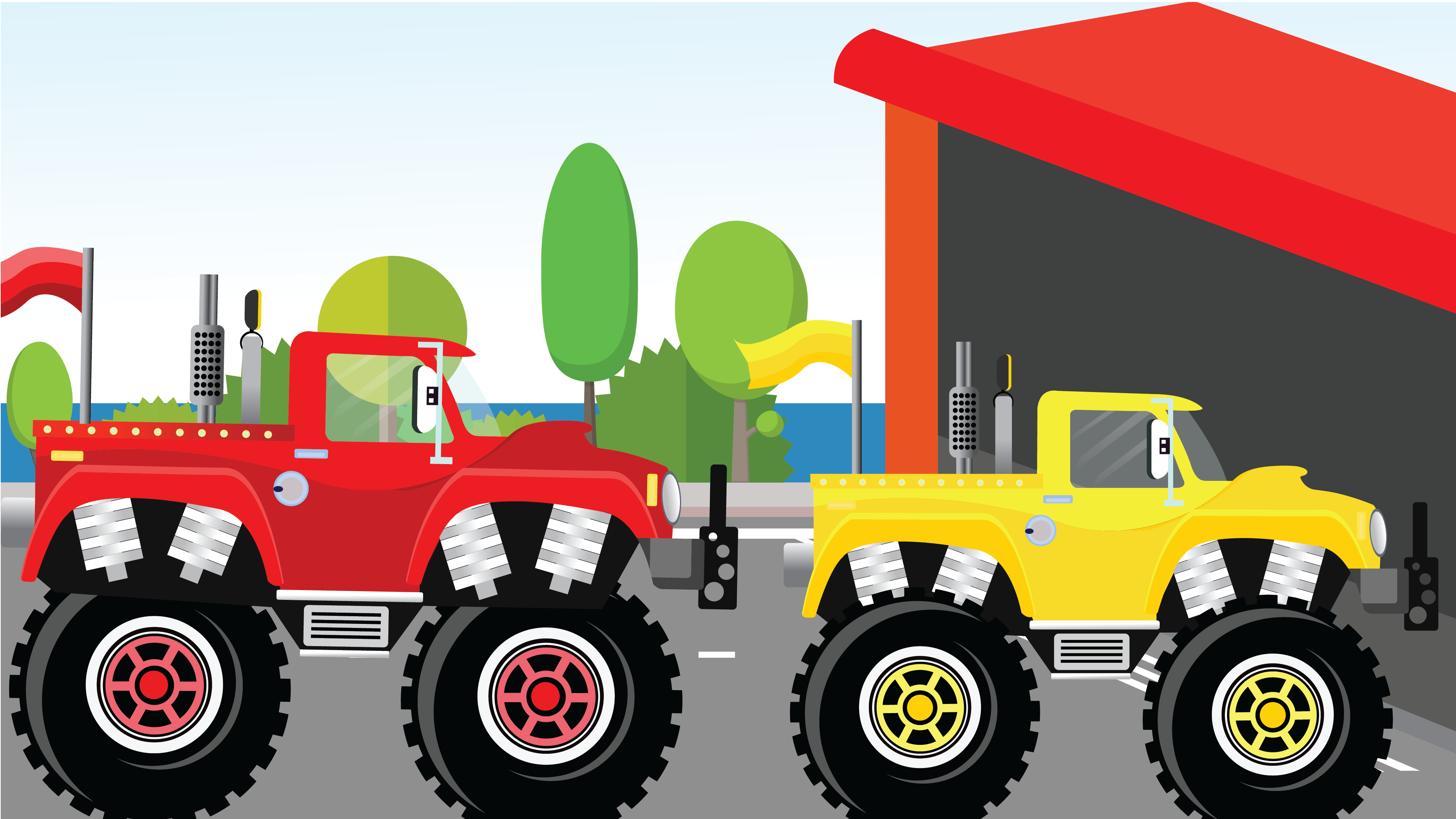 Monster Dump Truck - Learn To Spell Dump Truck For Kids