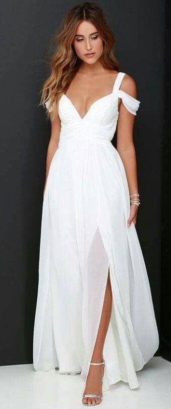 discapacidades estructurales venta usa online 100% originales Vestido vaporoso blanco | Vestidos blancos de playa ...