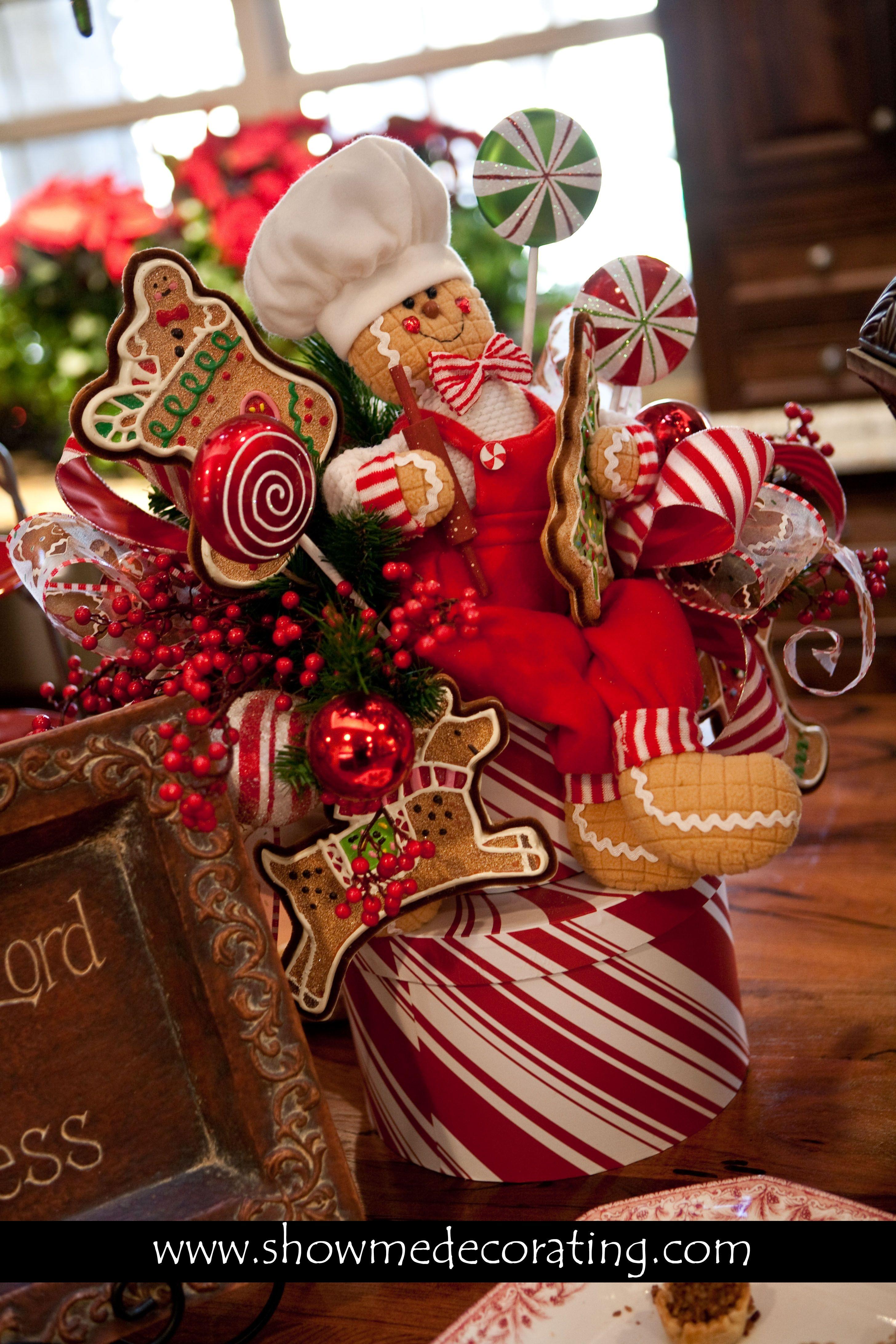 Gingerbread Man Centerpiece Christmas Gingerbread Christmas Centerpieces Gingerbread Decorations
