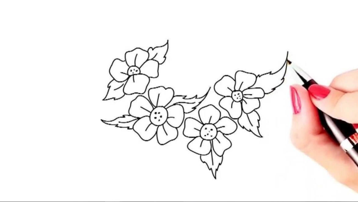 Gambar Bunga Mudah Doodle Bunga Gambar Simpel