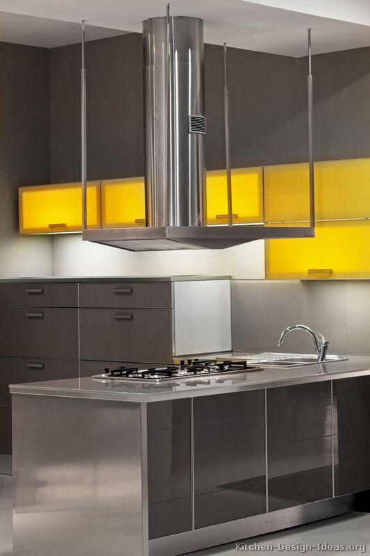 #Kitchen Idea of the Day: Modern yellow kitchens ...