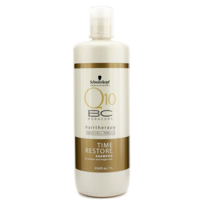 843956219a Schwarzkopf BC Bonacure Q10 Time Restore Shampoo 33.8 oz / Liter + Pump # Schwarzkopf
