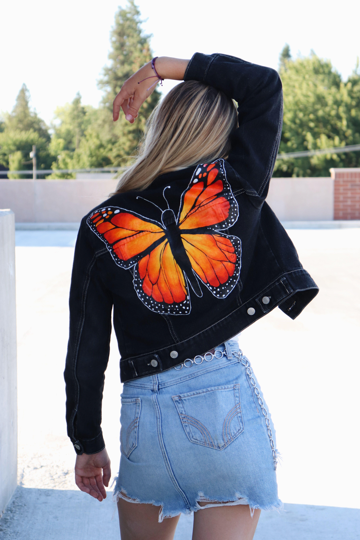 Custom painted denim jacket!!